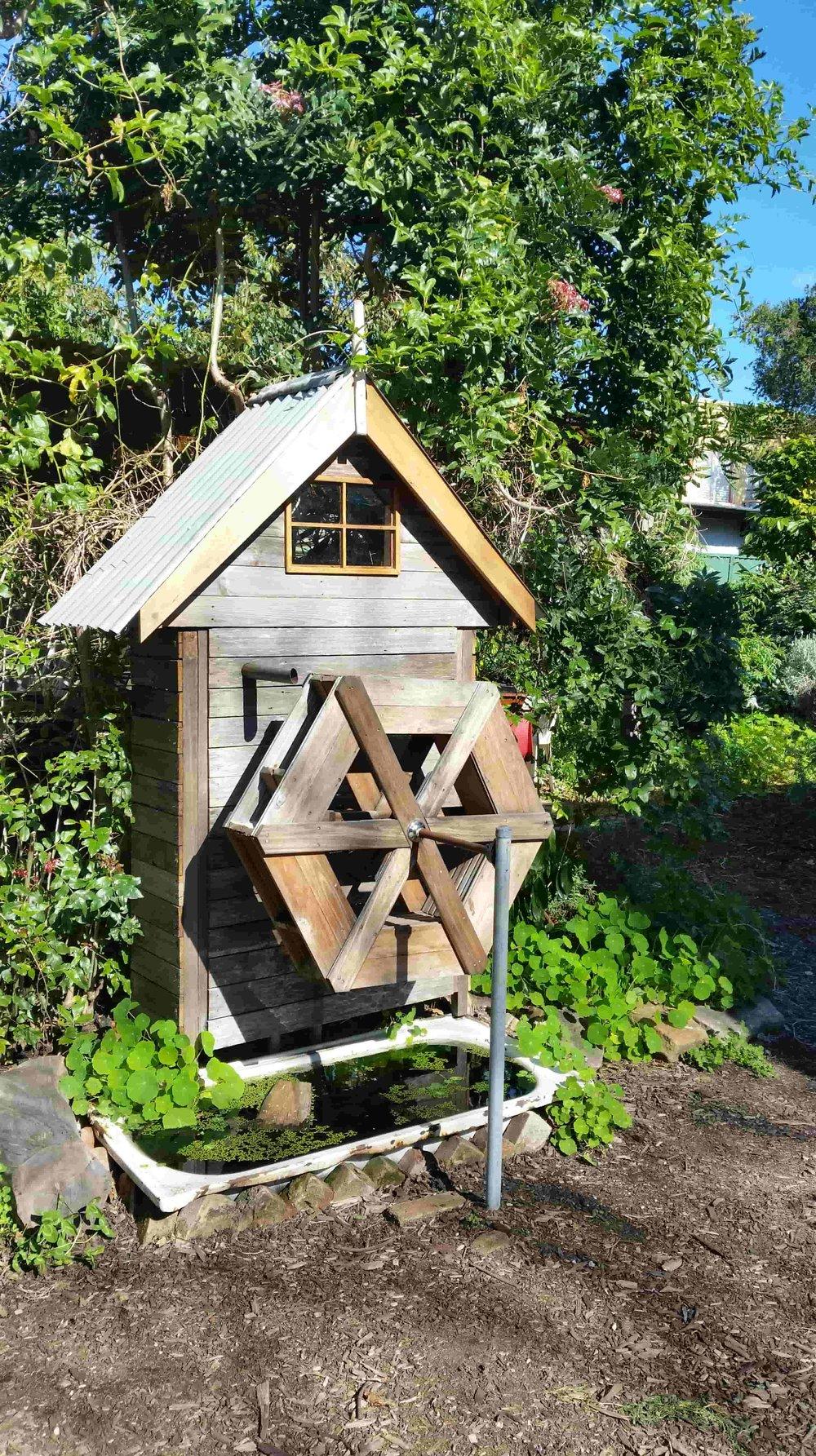 Community Garden Waterwheel