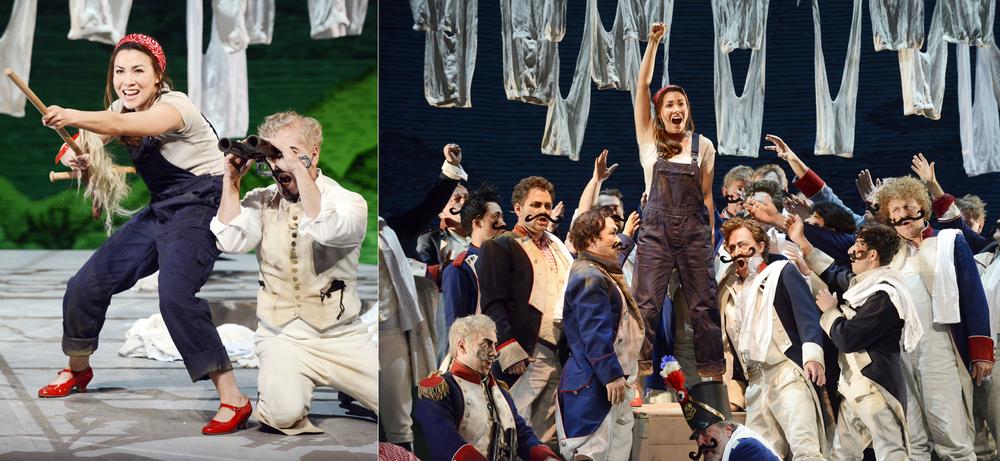 Marie, La fille du Régiment // Badisches Staatstheater Karlsruhe // Director: Aurelia Eggers // Stage/Costumes: Rainer Sellmaier //Photos: Falk von Traubenberg