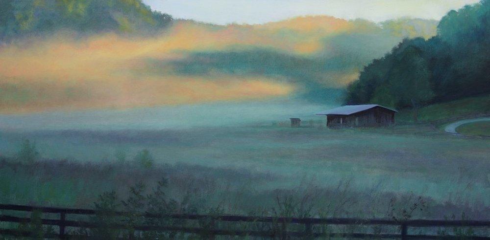 Morning Mist in Franklin, TN