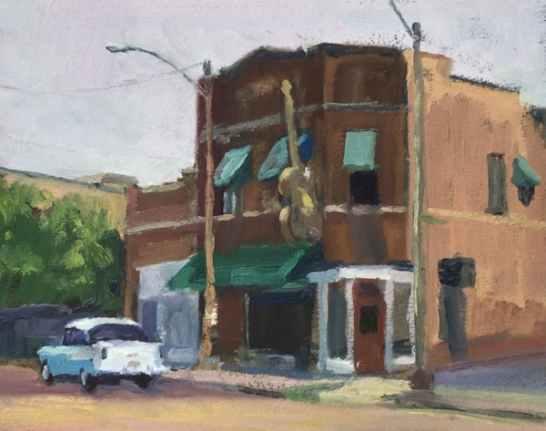 Sun Studio in Memphis, 8x10 inches, oil on paper.