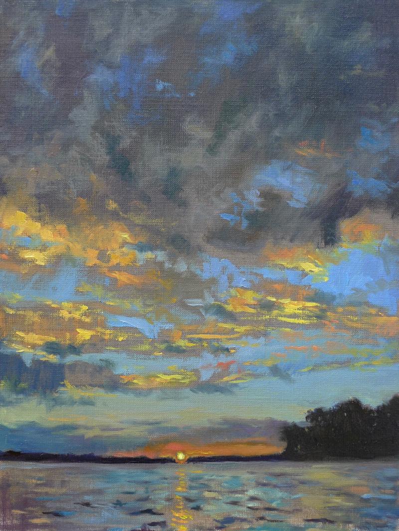 Sunset on Arkabutla