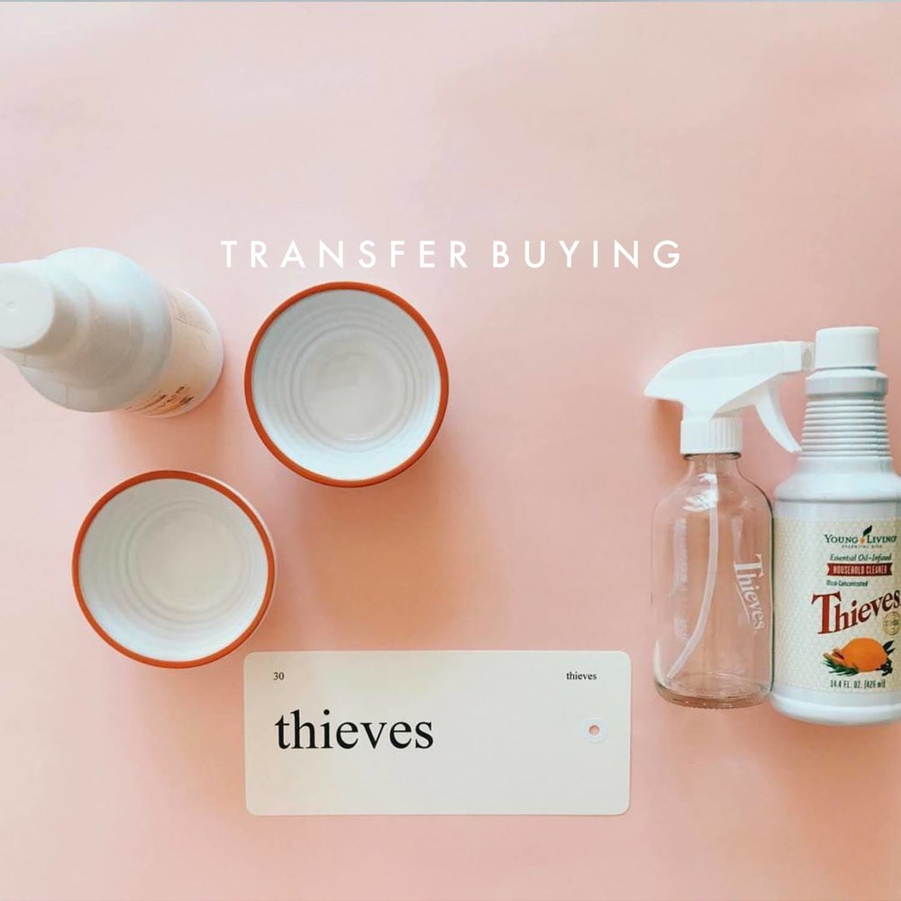 "Transfer Buying - Transfer BuyingYou might be thinking, ""I don't have an extra $50-$100 to spend right now,"" and I'll tell you what—I thought the same thing. But then I realized how many different products Young Living has, and how much of what I already buy (toothpaste, vitamins, baby wipes, makeup, body lotion, shampoo, etc.) that I could stop buying at Target and start buying from my own Young Living store. This is what call transfer buying, because you're not spending new money, you're just spending the same money in a different place on things that are so much healthier for your family. Also, Target only gives me 5% back, and Young Living gives me 25%! YES, PLZ.+++++++++++++++++++++++++Something else I no longer buy at Target are gifts! Instead, I buy oily gifts for each occasion—what better way to introduce people I love to products I love? How fun are these ideas?Wedding: Into the Future, Longevity, Sensation Massage Oil Baby Shower: Anything from the Seedlings line, Gentle Babies, Tender Tush, Lavender, Fennel (for milk supply), Peace and CalmingGraduation: Motivation, Believe, USB diffuser, Brain Power, Highest PotentialHousewarming: Thieves Foaming Handsoap, Thieves Household Cleaner, and Thieves Dish SoapFriend's Birthday: Lavender Bath Bombs, Joy, Coconut Lime Body Butter, Desert Mist Diffuser, LipglossKid's Birthday: DIY Playdough using Lavender, Lemon, and Peppermint, Valor, KidScentsChristmas: Cinnamon Bark, Christmas Spirit (FAVE), Pine, Balsam Fir, Myrhh, FrankincenseIllness: Frankincense, Breathe Again, Thieves, RC, Inner Defense, OreganoTeacher: Stress Away, Brain Power, Dewdrop Diffuser, Thieves+++++++++++++++++++++++++Transfer buying—it's the best! (Sorry, Target, we still love your pillows and kid's clothes!!!)"