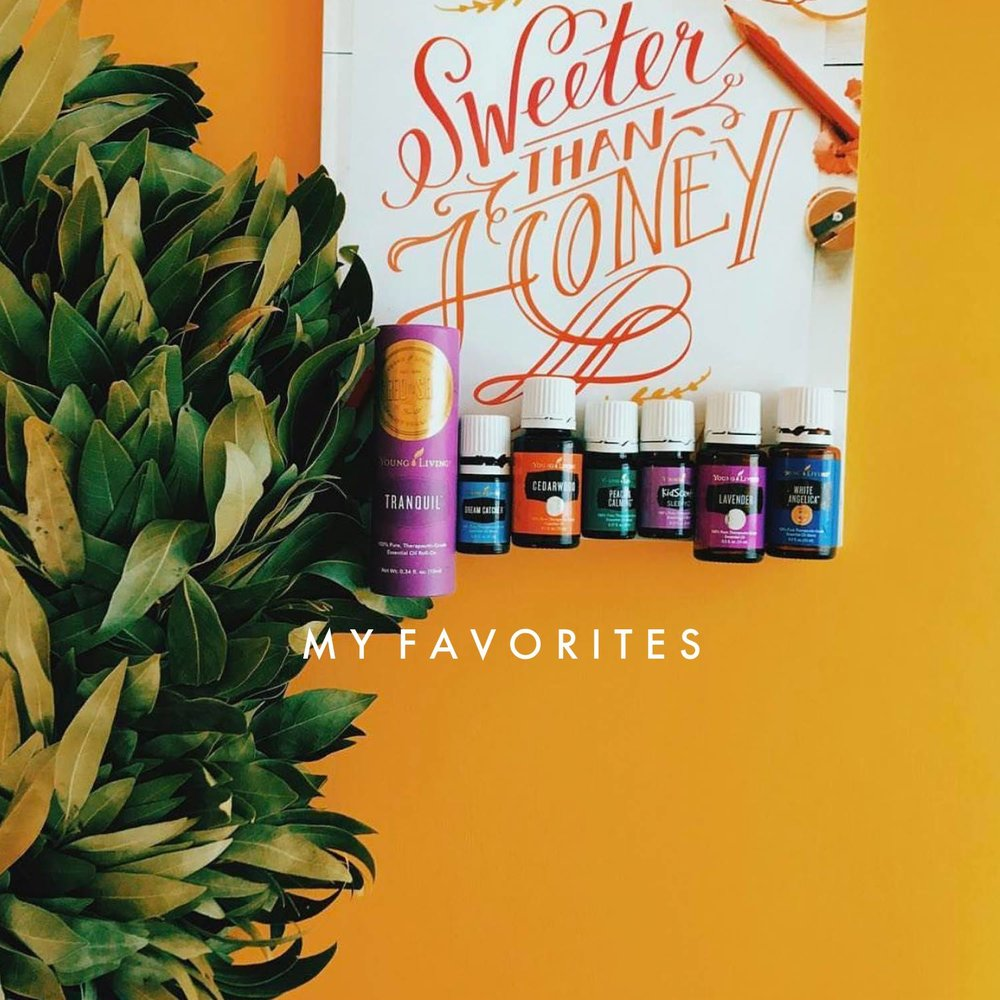 My FAVES! - These are some of my personal favorite Young Living products! Maybe these will give you some ideas to add to your ER order this month!!!Supplements:- Ningxia Red (antioxidants are my jam)- Multigreens (great energy and seasonal support—and greens. win.)- Super B (natural energy, great source of folate, fantastic for mamas and mamas to be!)- SulfurZyme (MSM, y'all!!!)- OmegaGize (good ratio of omega fatty acids)Oils:- Valor (supports my emotions and it's my fave smell in all of YL!!)- Christmas Spirit (okay, Valor is tied with this guy for fave smell)- Progessence Plus (hormone support that I can't live without!!!)- Lime (diffuse for the happiest home)- Dream Catcher (bedtime)- Frankincense (never. run. out.)- Peace and Calming (happy happy happy)Others:- Thieves Household Cleaner (literally the only bottle under my sink! I add a capful to a spray bottle of water and clean every surface of my home with this non-toxic bottle of joy)- AromaBright toothpaste (can also be used as deodorant. WHAT.)- Satin Facial Scrub Mint (obsessed)- ART Intensive Moisturizer- Lavender Hand and Body Lotion (I don't let myself run out of this!) - Thieves Foaming Hand Soap (at every sink in my house)- Aria Diffuser (gorrrrrrgeous)- Thieves Laundry Detergent (so ultra concentrated and amazing and all e use)Kids:- KidScents toothpaste (citrus flavored and fluoride-free!)- SleepyIze (my daughter's favorite, and she can roll it on herself!)- Brain Power (applied before school) - Seedlings Baby Lotion (heavennnnnn)- Seedlings Baby Wipes (these smell like ANGELS and can be used as makeup wipes and in place of toxic dryer sheets!)- KidScents Shampoo (because conventional kid and baby shampoo is some of the worst stuff on the market when it comes to toxicity and carcinogens—nuts) - MightyVites (chewable multi-vitamin) - MightyZymes (they need enzymes to absorb the good stuff in the food they eat!)