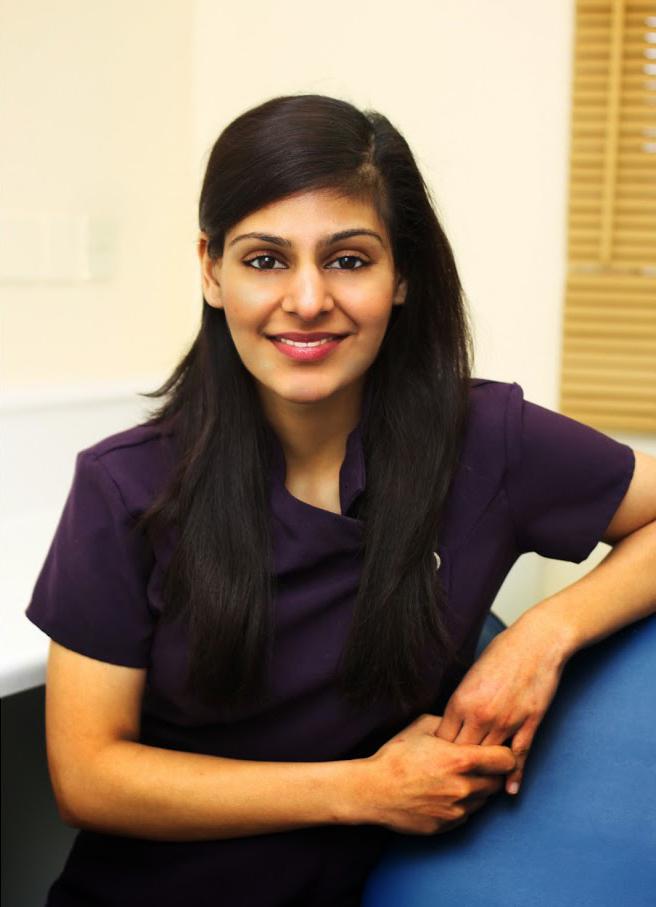 Indu, our hygienist.