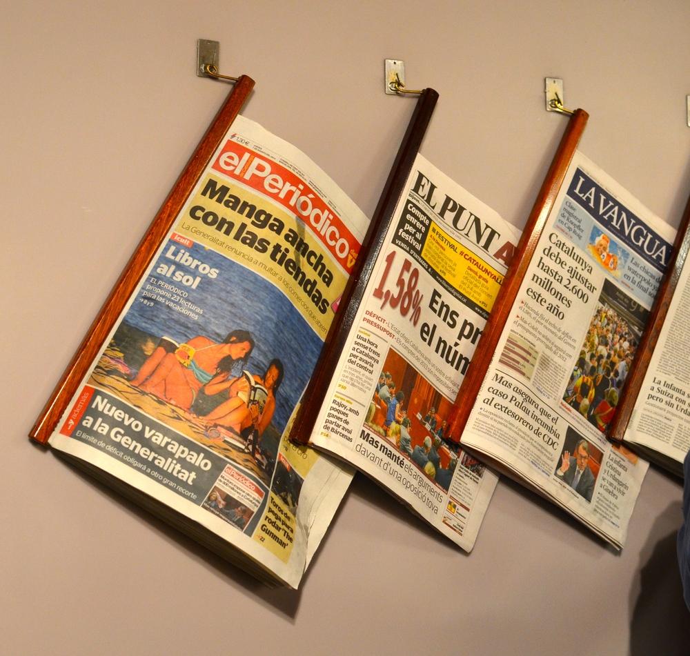 Jornais para os clientes