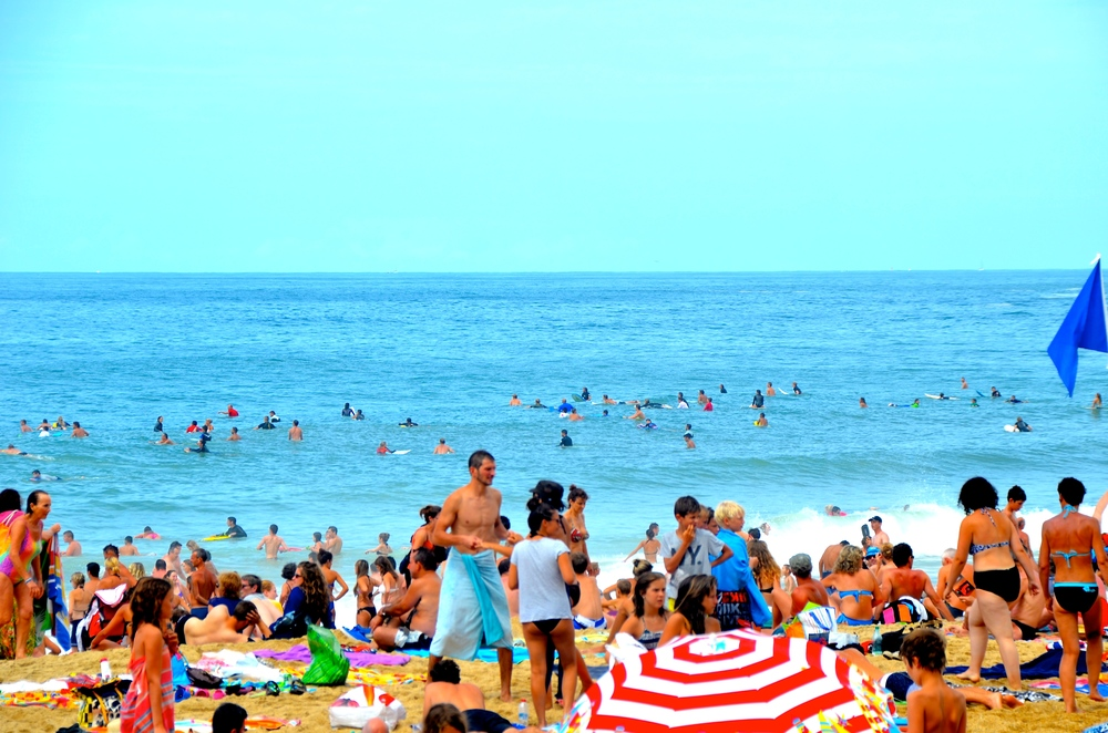 La Grand Plage e o crowd do surf
