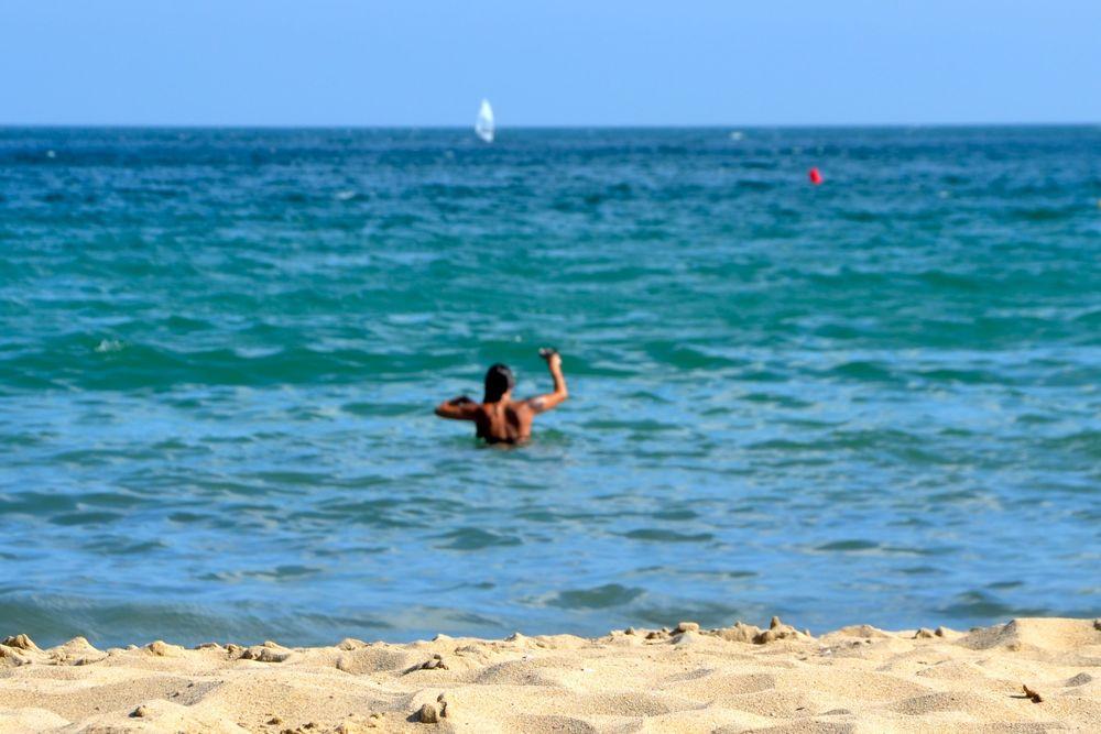 Quando eu tomei um banho na San Sebastian: tranquilidade.