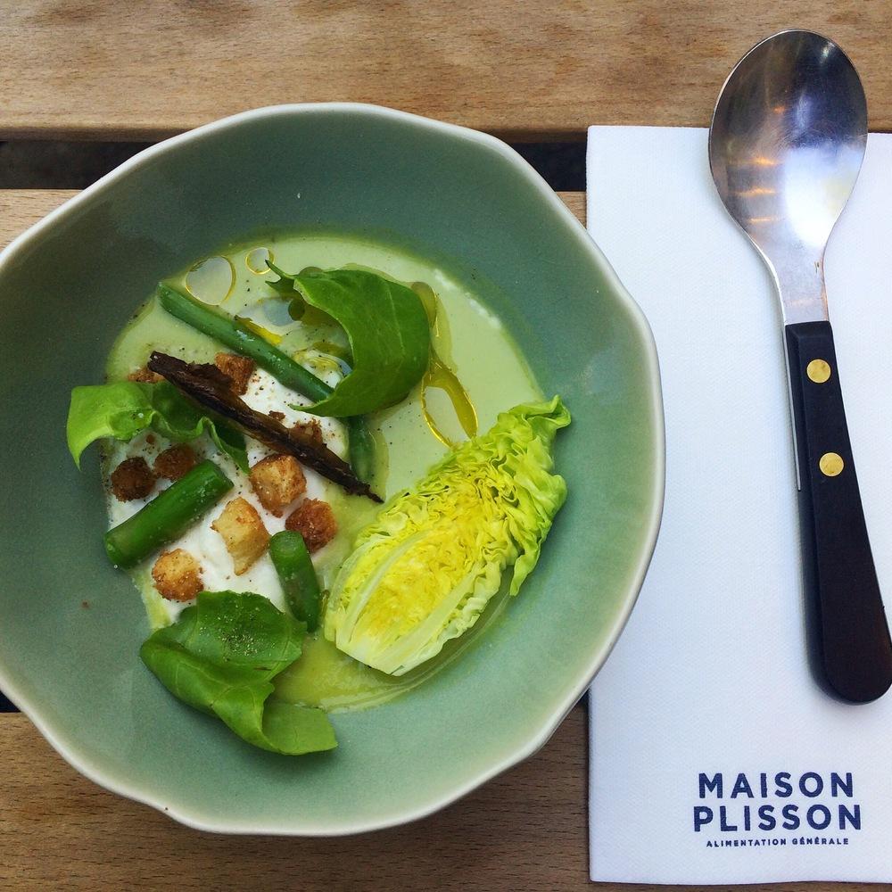 Um sonho: aprender a fazer esta sopa de aspárgus com ricota