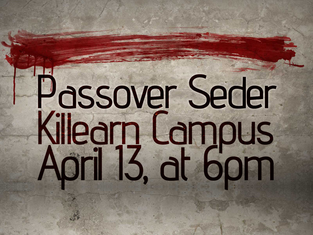 PASSOVER SEDER ON APRIL 13
