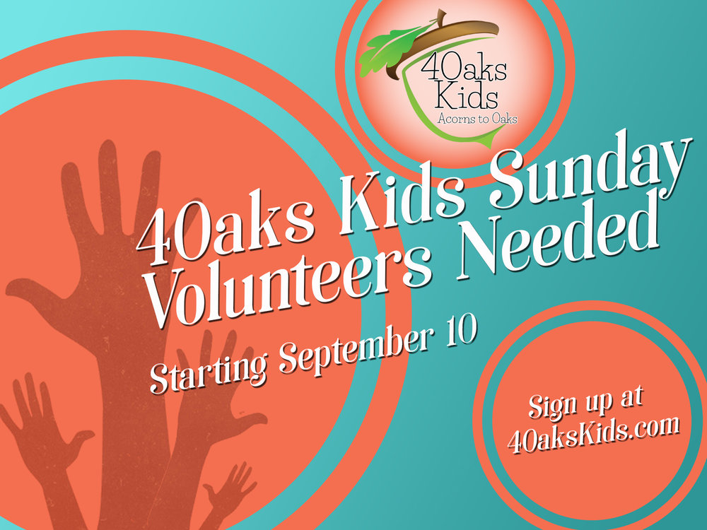 Service Opportunities in 4Oaks Kids