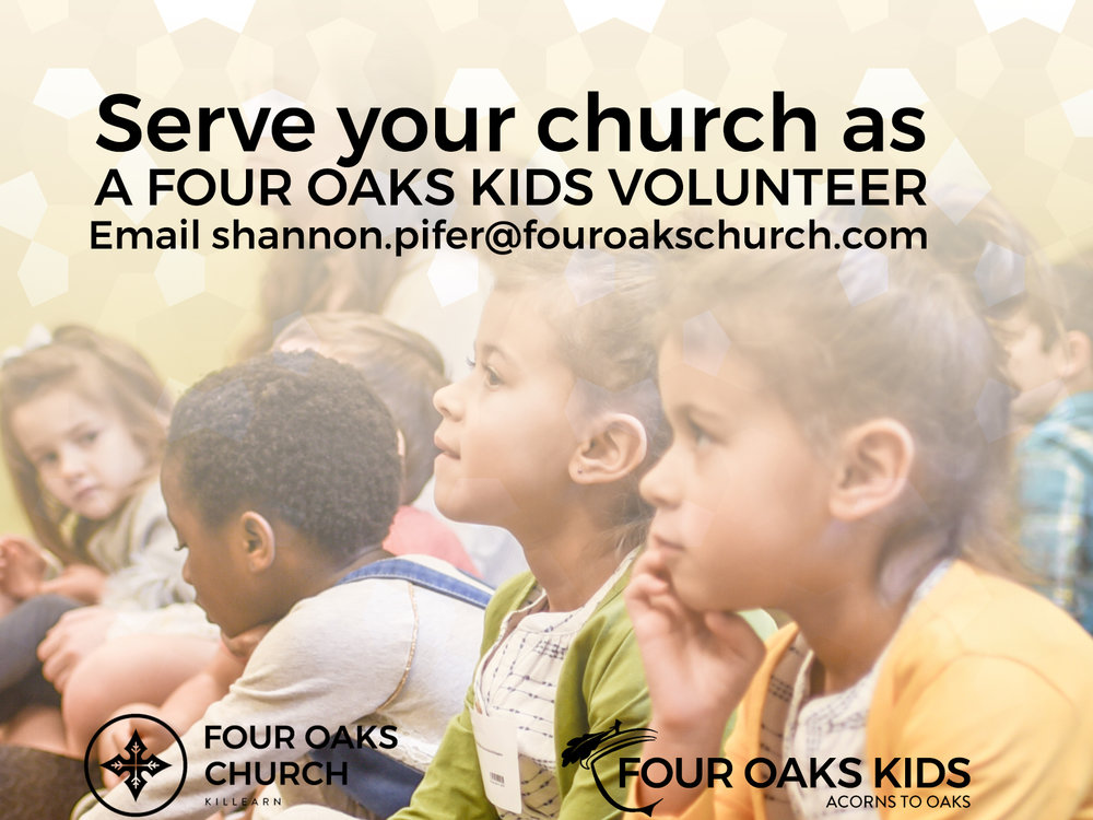 Sunday Volunteers Needed in Four Oaks Kids