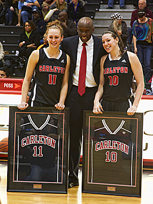 2012: A. Cleary (NG) and K. MacLeod (St. Mary) are honoured by the Ravens