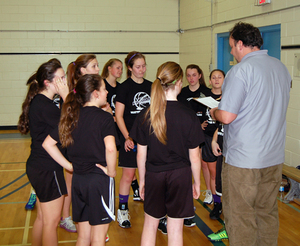 13-14: Coach Goebel and  his All-Stars