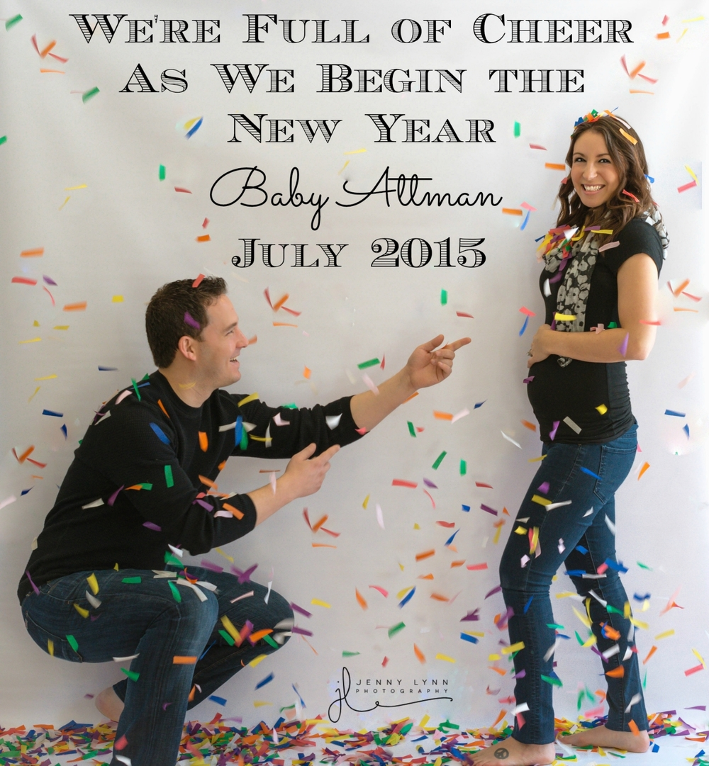 Maternity Jenny Lynn Photography – New Years Birth Announcement
