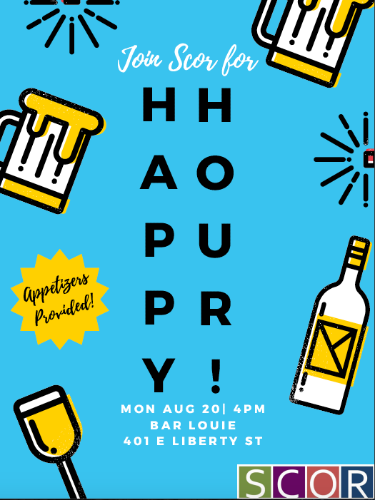 RMF Connection Happy Hour  - August 20th, 2018Bar Louie, 401 East Liberty Street4pm to 7pmFree AppetizersNo RSVP Required