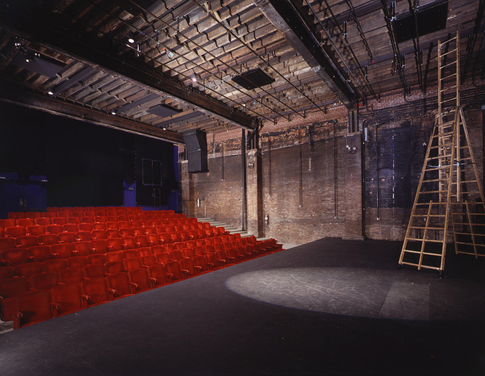 View of theater from stage