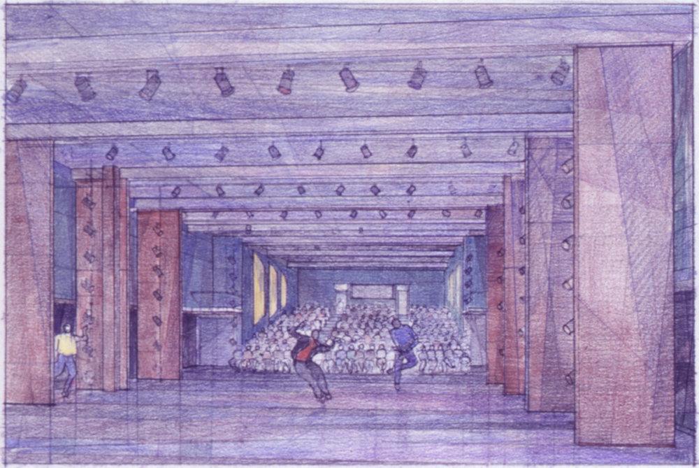 Rendering of dance space