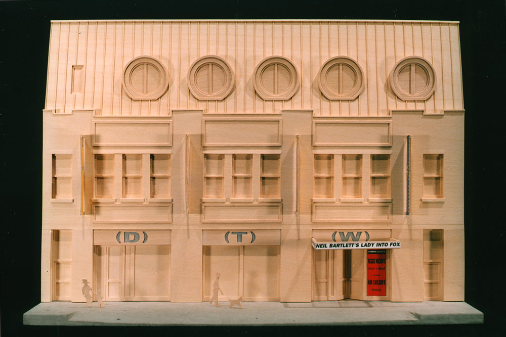 Model view of facade