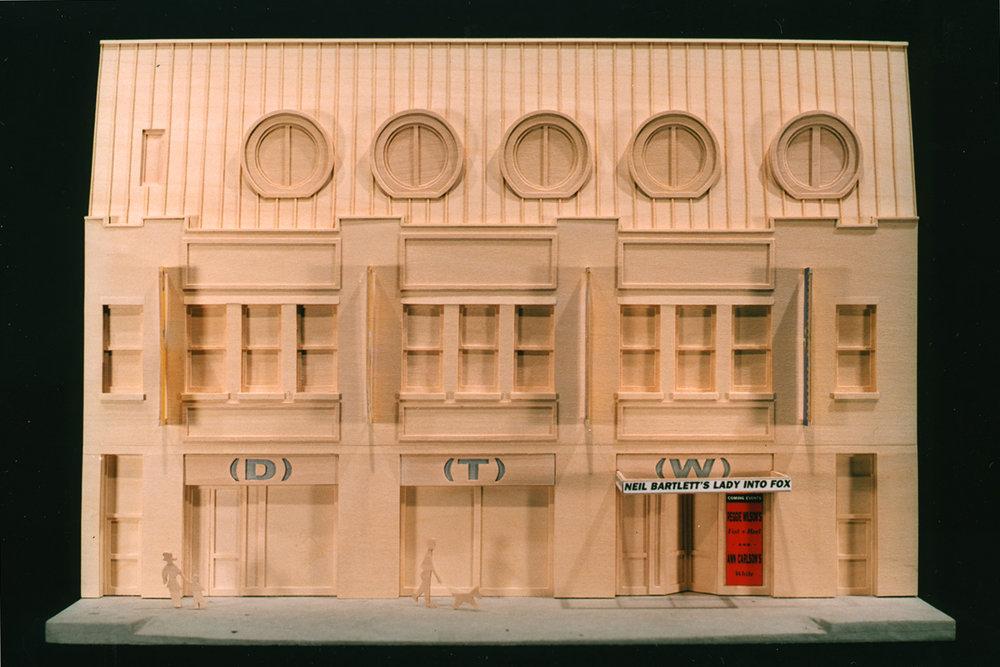 Model view of facade