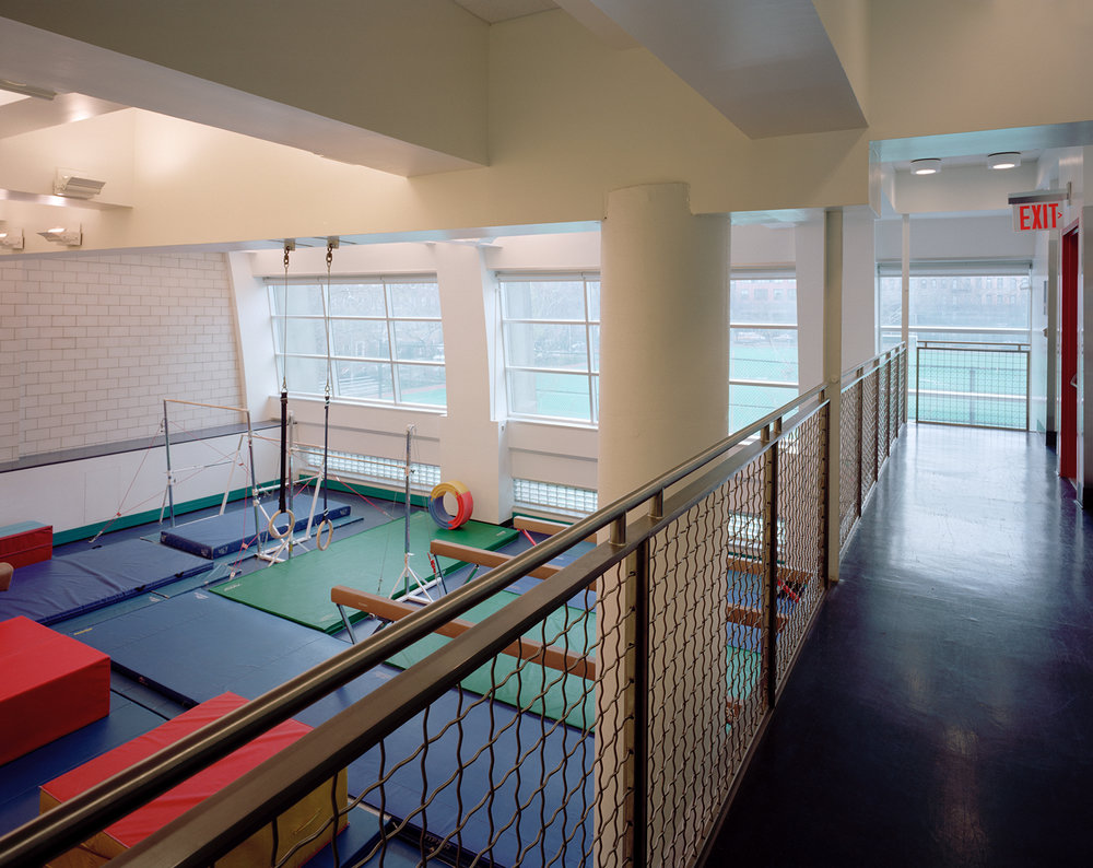 """View of """"mini-gym""""from 3rd floor hallway"""