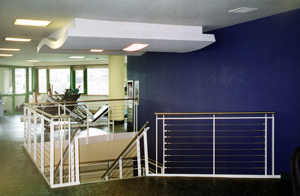 View of upper floor of Fitness Studio