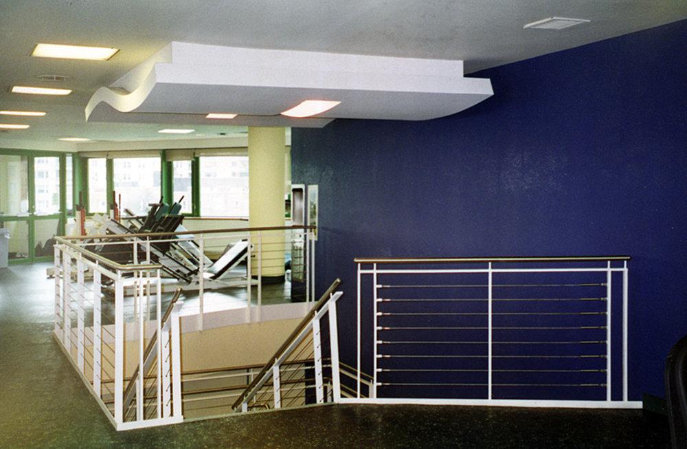 View of upper floor of Fitness Studio