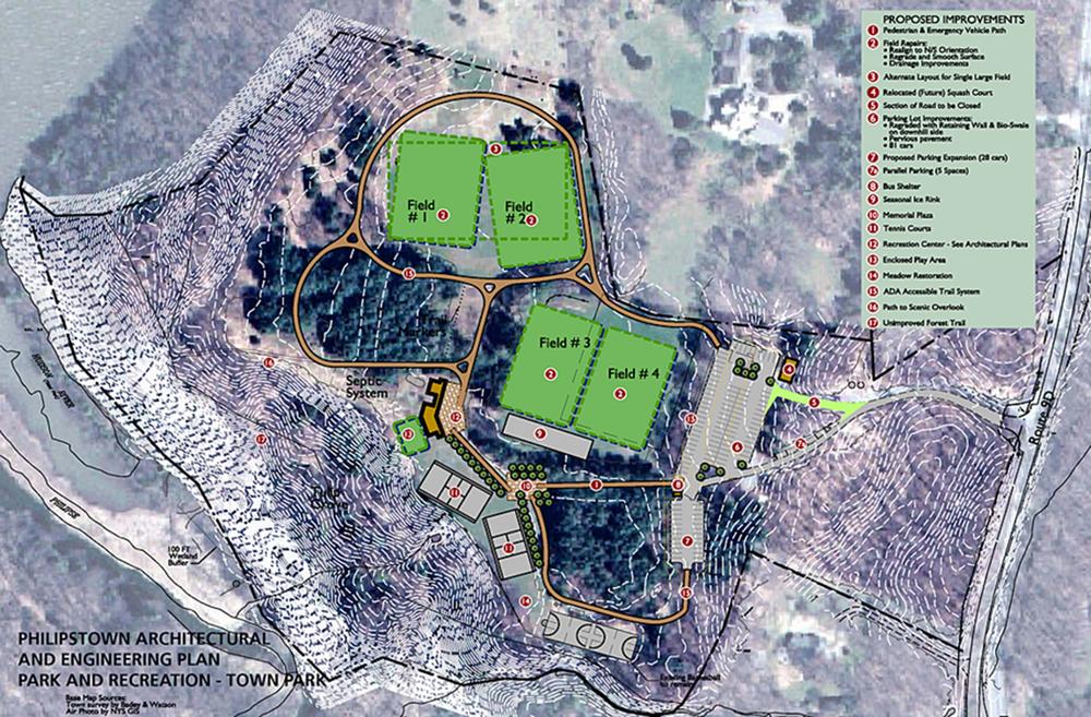 Philipstown Town Park site plan