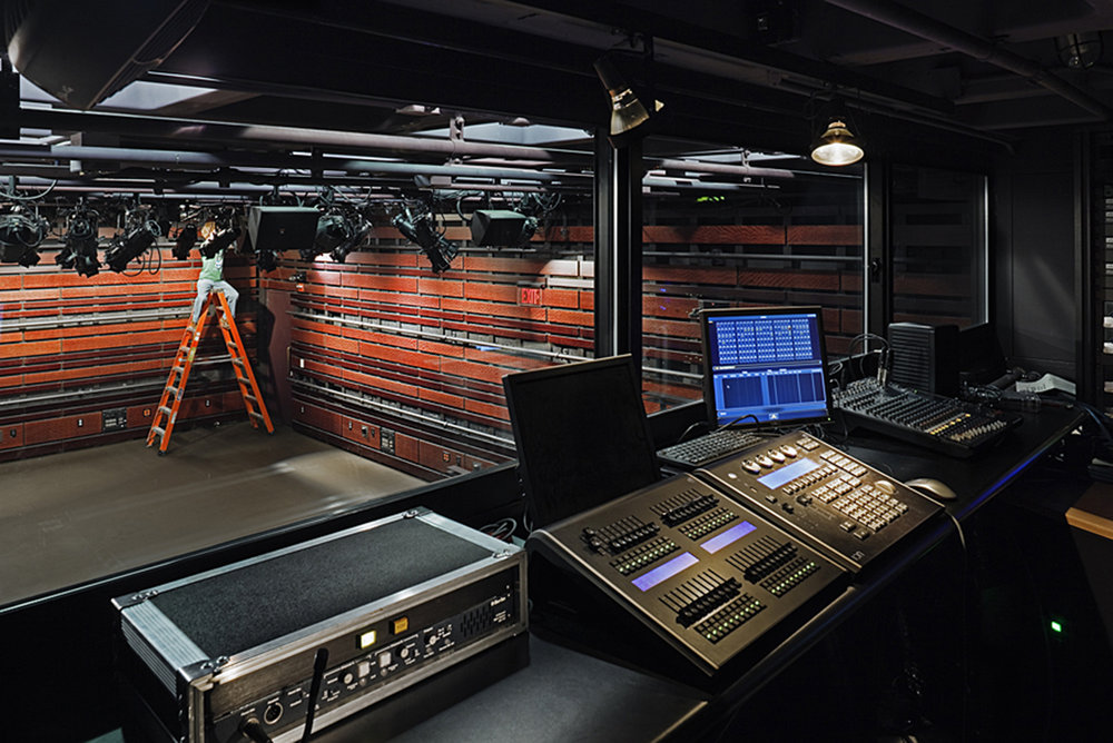 Control booth and stage