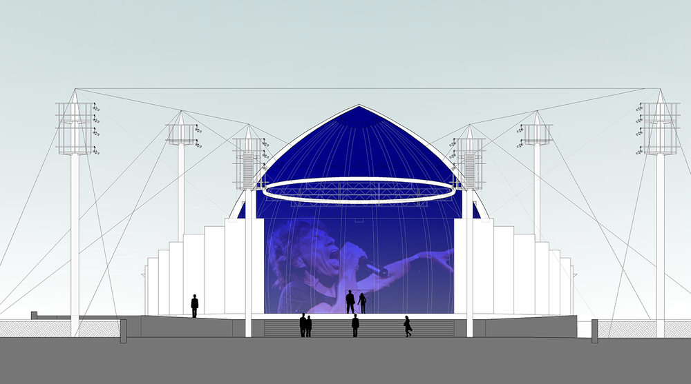 Bandshell elevation