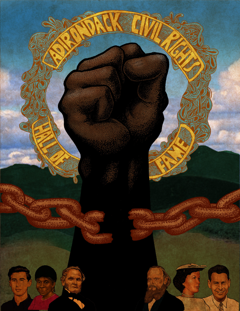 This was featured on the front page of  the article Adirondack Civil Rights: Hall of Fame article in the February 2012 issue of Adirondack Life magazine. Below are the other editorial illustrations that were featured throughout the piece.