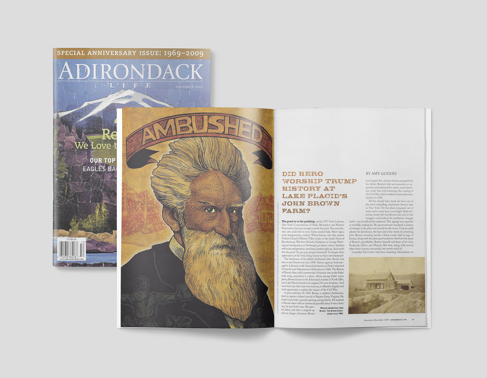Final illustration of editorial portraiture of the abolitionist, John Brown, as seen in the publication.
