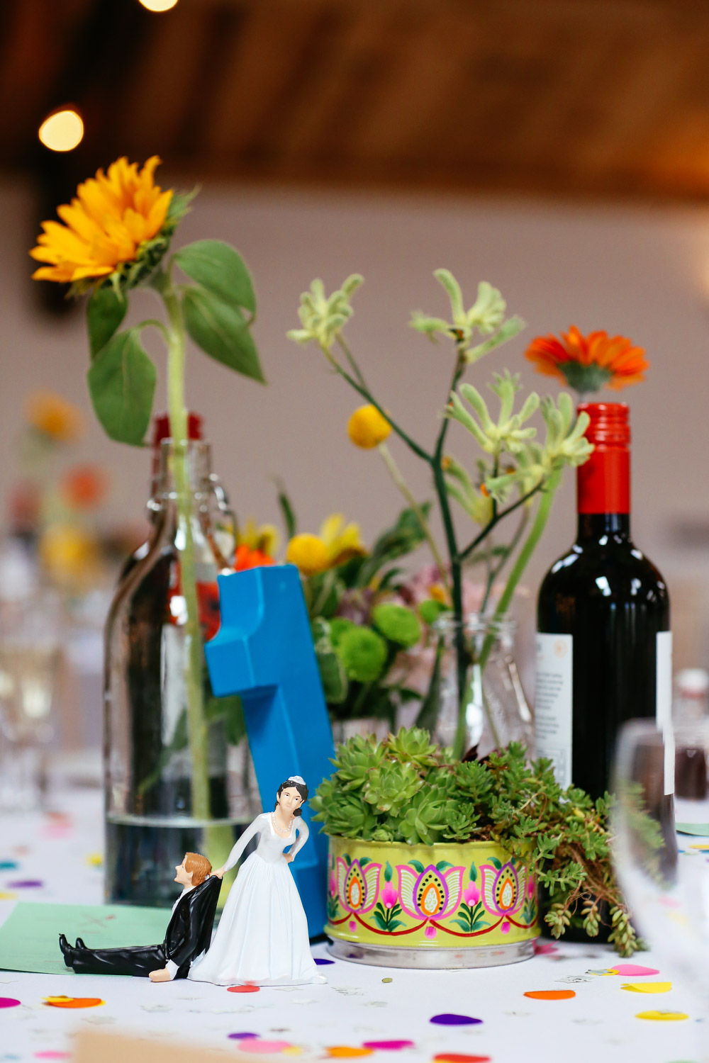 Quirky Wedding Table Decorations