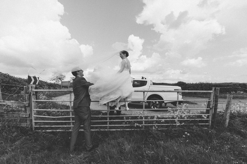 windswept bride
