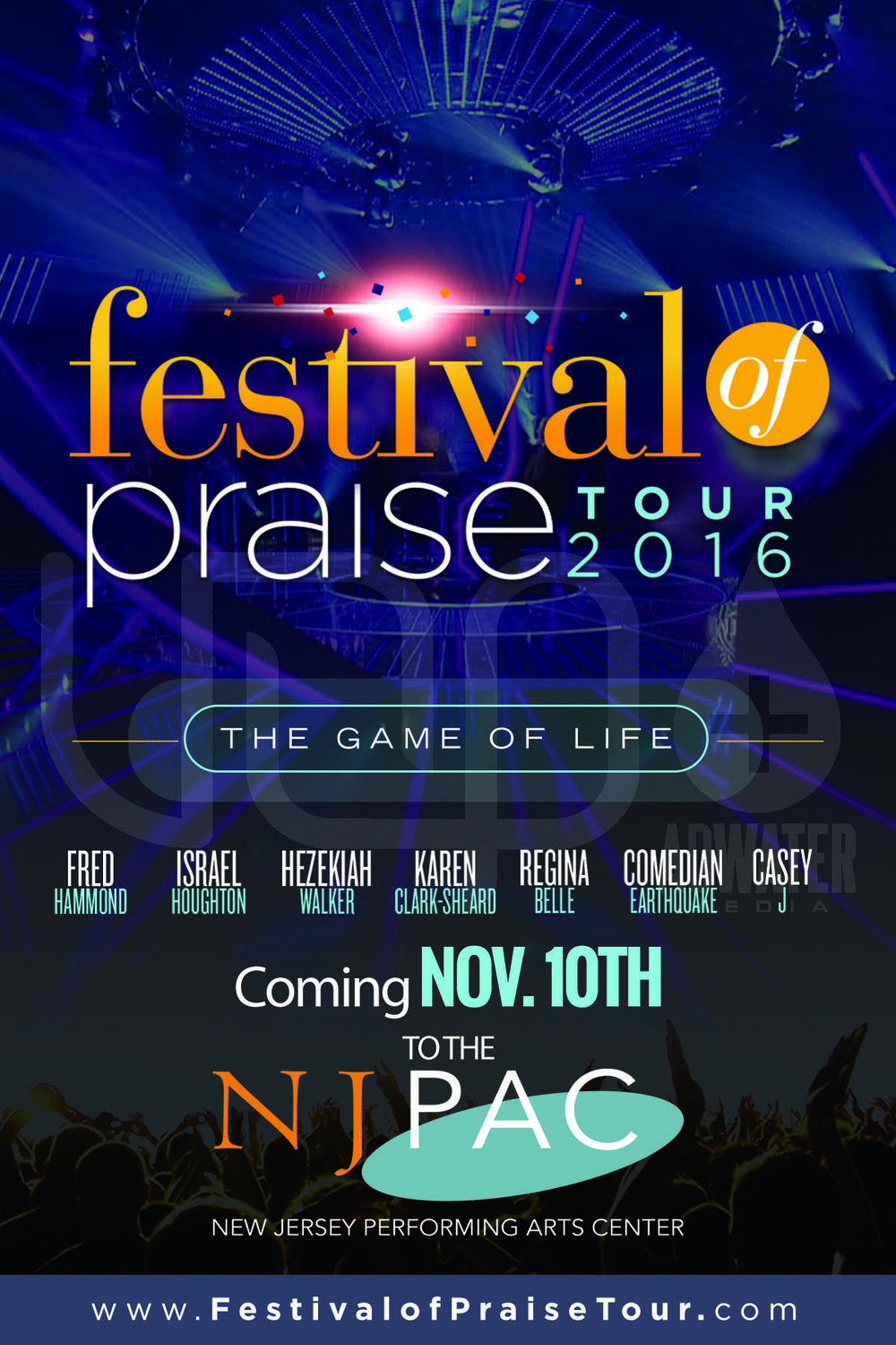 Festival of Praise Tour 2016 (Frontside) Artwork