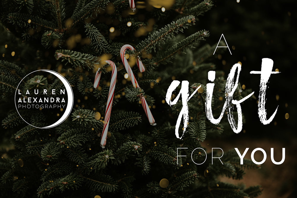 CUSTOM GIFT CARDS - Not sure what kind of photo session they need, or want to chip in for a session without paying the full price (great for wedding photography)? Chip in $100 or $200, or contact me for a custom amount!
