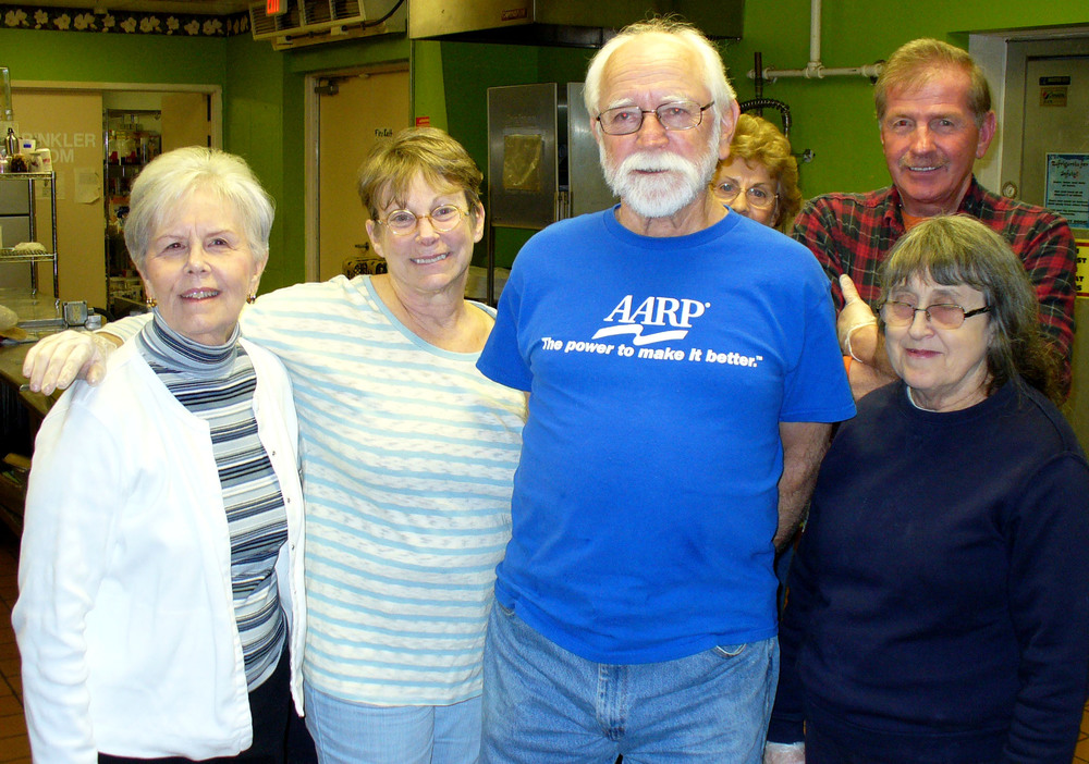 Second from left is AARP/Brisben point-of-contact Sally Cooney-Anderson.