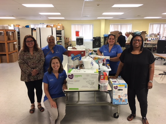 The Fredericksburg chapter of the American Academy of Professional Coders conducted a donation drive of much needed supplies for the Brisben Center. They also generously made a financial donation which enables us to continue working hard to help our residents return to permanent housing. Thank you Fredericksburg Chapter of AAPC!!