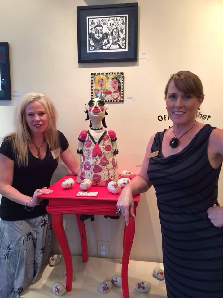 Leanne Pizio's whimsical pottery can be found at our gallery and at Irving Park Art & Frame.