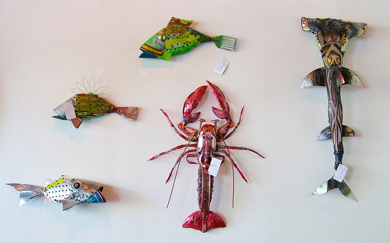 Frank Russel's critters are top sellers at the gallery.