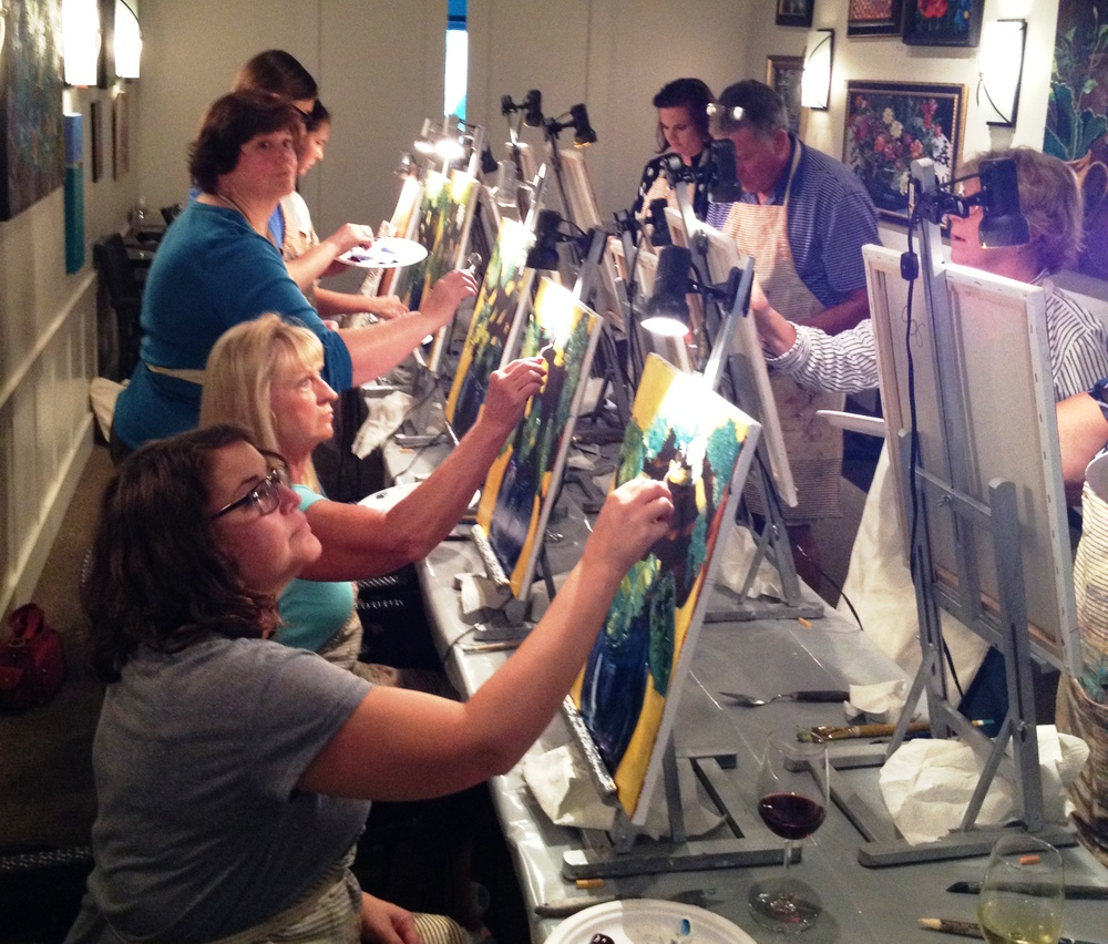 Still lives come to life as these painters at practice follow the lead of Connie Logan.