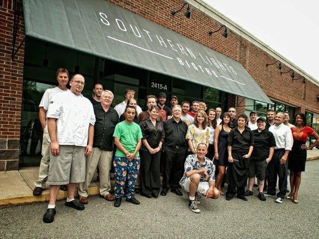Chef Matthew Adams (far left) and the Southern Lights family.