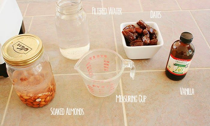 Ingredients for the Almond Milk