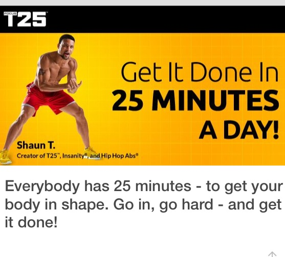 Sometimes I do T25 by itself - if I'm tight on time - or add it to 30 minutes of lifting weights. Such a good combination of FIT.