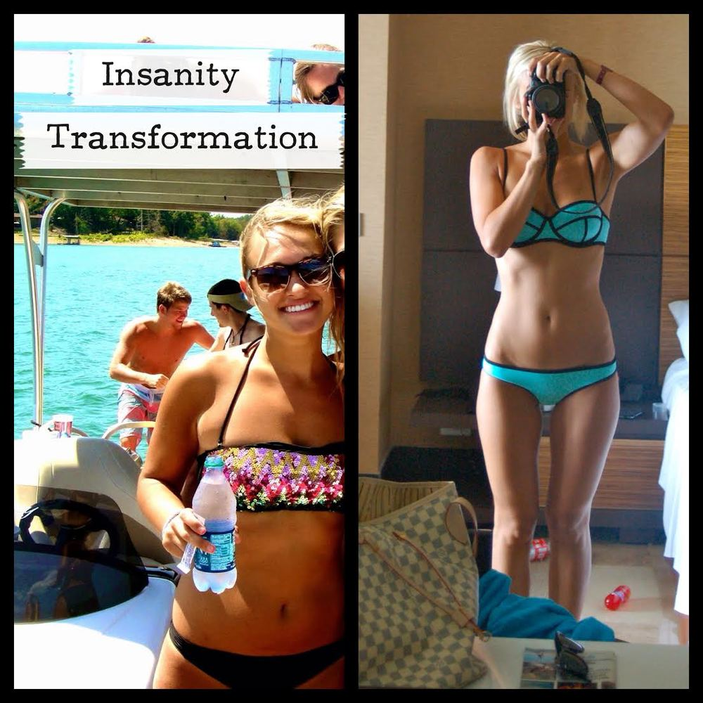 Insanity Transformation - following the 3 month plan - Kenady lost the weight - and got stronger for it.