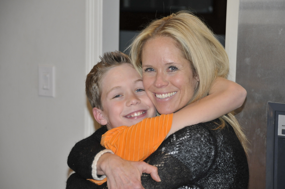 Around my 40th birthday - I decided to shake up my workout routine - and see results again.Here is my sweet boy - giving me what I need the most - a hug!!