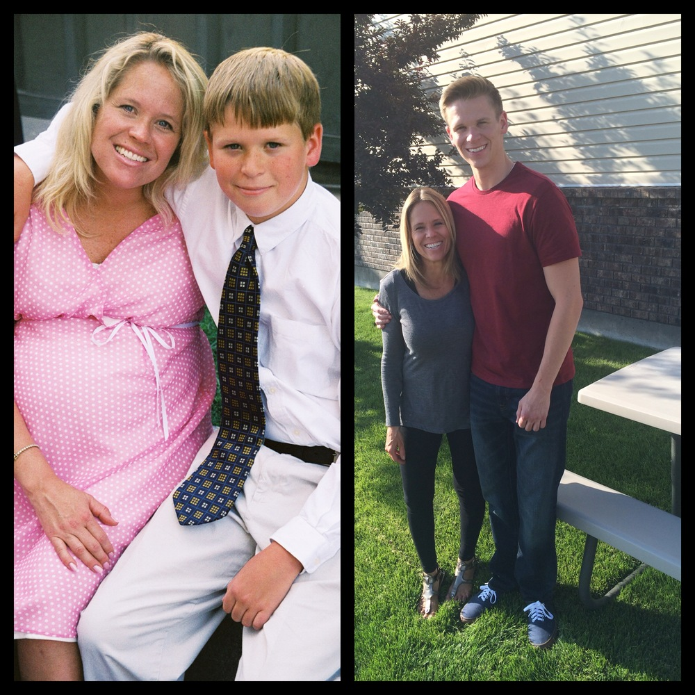 With my oldest son - Christian. Me pregnant with my last baby - Lily.