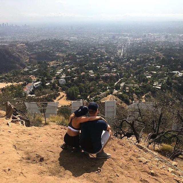 What's your ❤️ story? @markjeweller @jdeleon14255  #hollywoodbaby #travelgram #couplegoals #love #teamburgess #burtandgurtlovestory #us #thankful #worksmartnothard #wemadeit #hikedtothetop #soulmates