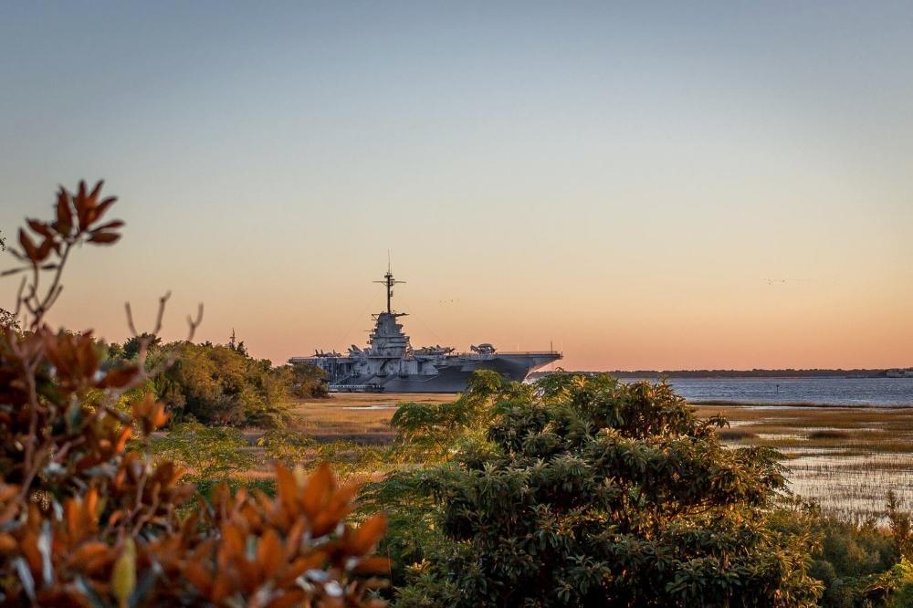 View of the USS Yorktown