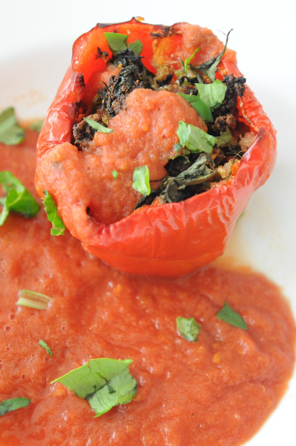 Lamb & Rice Stuffed Pepper