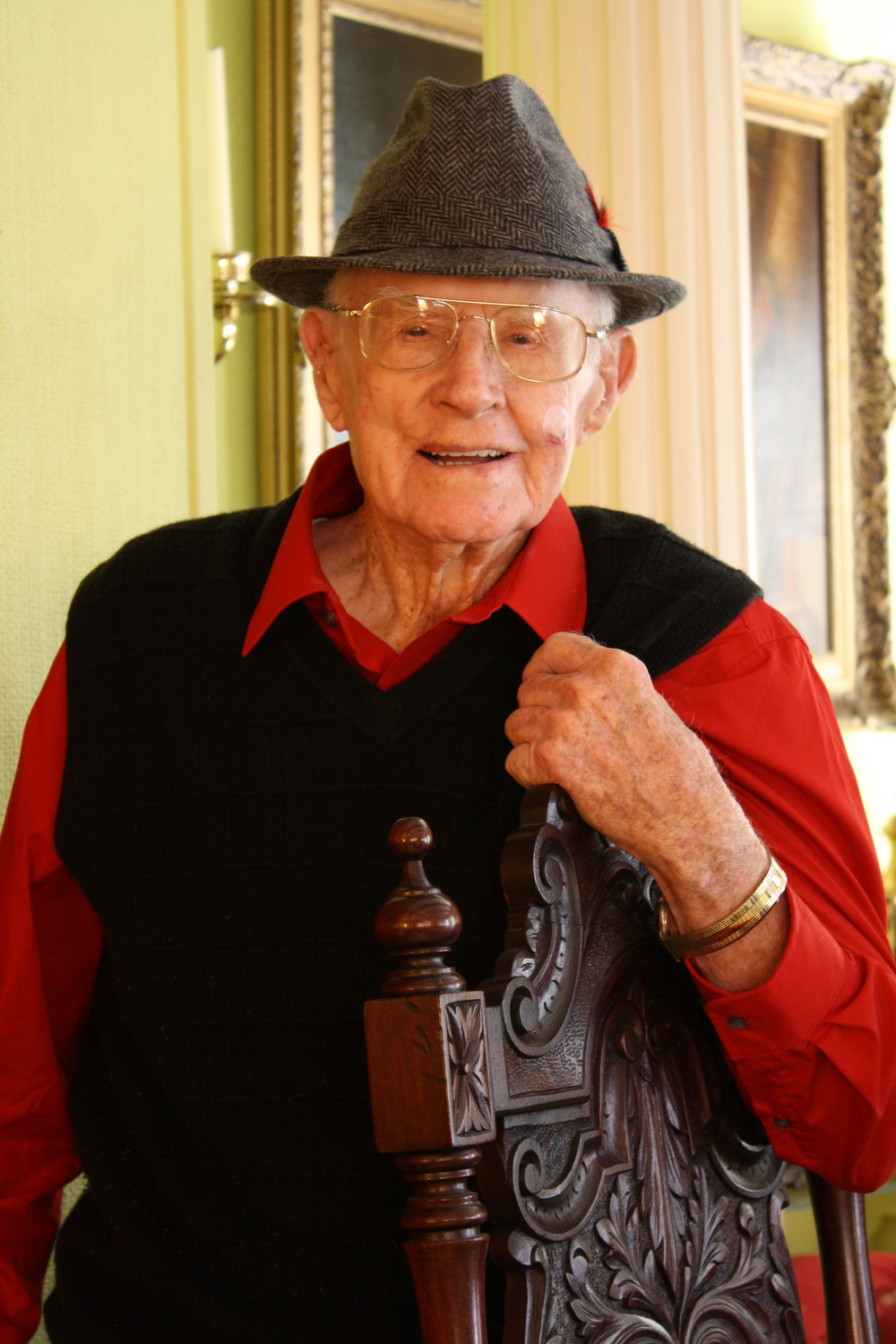 Jack Jones, of Samson, Alabama, turns 105 years old